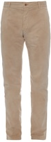 Tomas Maier Faded Brushed Stretch-cotton Chino Trousers