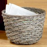 Braided Rattan Recycled Paper Waste Basket