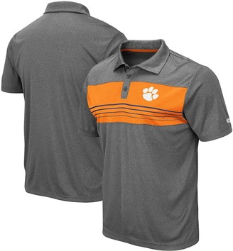 Colosseum Men's Heathered Charcoal Clemson Tigers Smithers Polo