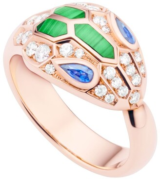 Bvlgari Rose Gold and Precious Stone Serpenti Ring