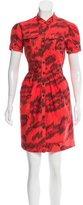 Diane von Furstenberg Hoya Abstract Print Dress