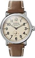 Shinola Runwell Stain Steel Leather-Strap Watch