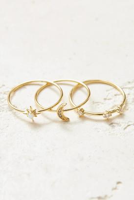 Gorjana Luna Ring Set Ivory 8
