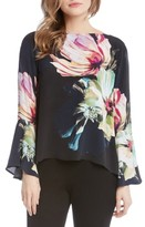 Karen Kane Women's Bell Sleeve Floral Top
