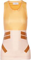 adidas by Stella McCartney Techfit mesh-trimmed stretch-jersey tank