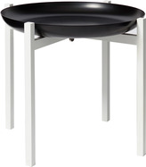 Design House Stockholm Tablo Black Tray Table - White Lacquared Teak Large Stand