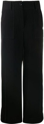 Sacai High-Waisted Straight Leg Trousers