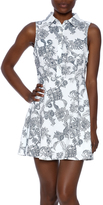 En Creme Sleeveless Shirt Dress