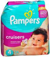 Pampers Cruisers Diapers Size 4, 22-37 lb - 4 packs of 24, Pack of 4