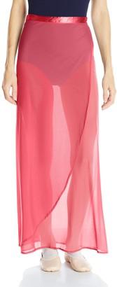 Danskin Women's Maxi Wrap Skirt with Satin Side Tie