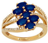 Lord & Taylor Sapphire, Diamond and 14K Gold Ring