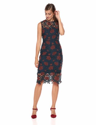 Cupcakes And Cashmere Women's Mandolin Floral lace Sheath Dress