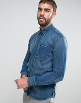 Nudie Jeans Henry Long Sleeve One Pocket Denim Shirt