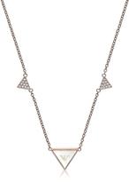 Emporio Armani Signature Rose Goldtone Triangle Necklace