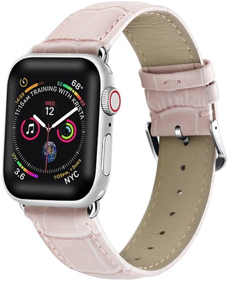 Posh Tech Pink Crocodile Embossed Leather 42mm Apple Watch 1/2/3/4 Band