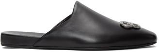 Balenciaga Black BB Cosy Slippers