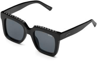Quay Sunglasses Womens **Black Stud And Smoke Icy Sunglasses By Black