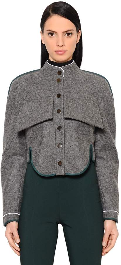 Antonio Berardi Short Wool & Cashmere Jacket