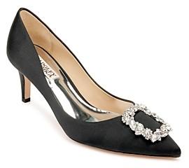 Badgley Mischka Women's Carrie Crystal Embellished Kitten Heel Pumps