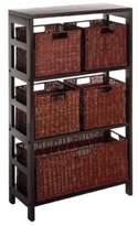 Bed Bath & Beyond Leo 3-Tier Shelf with 5 Wire Frame Baskets