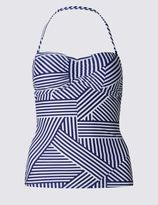 Marks and Spencer Striped Bandeau Tankini Top