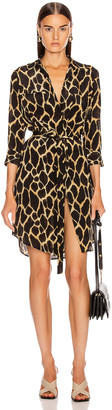 L'Agence Stella Short Shirt Dress in Sienna Safari | FWRD