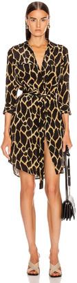 L'Agence Stella Short Shirt Dress in Sienna Safari   FWRD