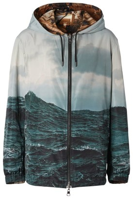 Burberry Reversible Submarine Print Hooded Jacket