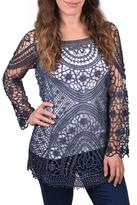 Ethyl Crochet Denim Tunic