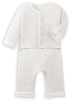 Petit Bateau Baby cardigan and pants set