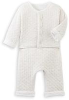 Petit Bateau Baby cardigan and pants set