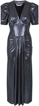 Rotate by Birger Christensen Alma Metallic Short-Sleeve Dress