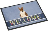 Caroline's Treasures BB5718MAT Bull Terrier Brindle Welcome Doormat