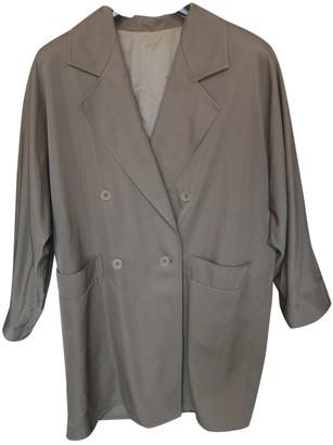 Marella Green Cotton Trench Coat for Women