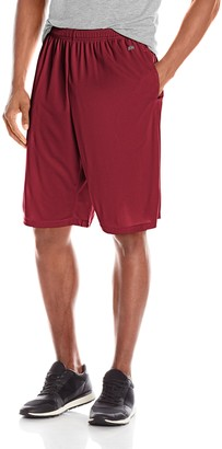 MJ Soffe Soffe Men's Extra Long Polyester Closed Hole Mesh Short Cardinal Medium