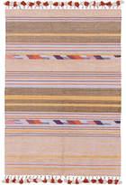 Amigos De Hoy Flip Striped Cotton Dhurrie Rug