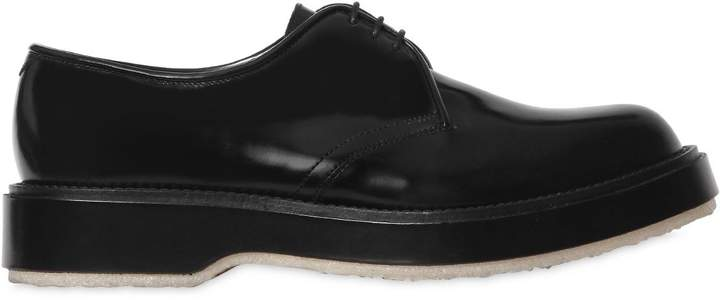 Adieu Polished Leather Derby Lace-Up Shoes
