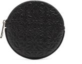 Loewe Logo-debossed leather-circle coin purse