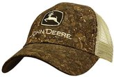 John Deere Men's Tree Bark Tan Mesh Cap