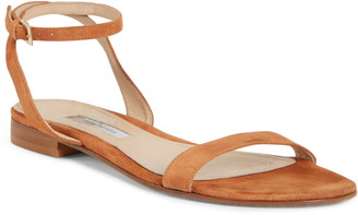 Emme Parsons One Ankle Strap Flat Sandal