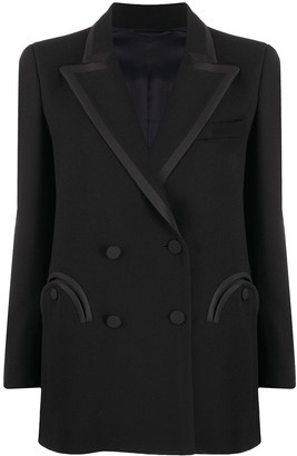 BLAZÉ MILANO Double-Breasted Silk Blazer