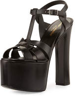 Saint Laurent Betty Tribute Mega-Platform Sandal, Nero