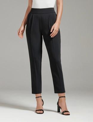 Forever New Zoe Pleated Elastic-Back Pants - Black - 4