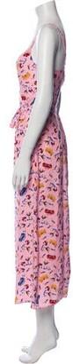 HVN Silk Long Dress Pink