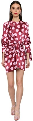 Dolce & Gabbana Polka Dot Stretch Silk Satin Mini Dress