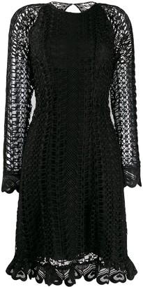 Temperley London Sunbird open-knit dress