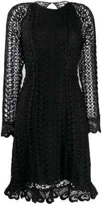 Temperley London Sunbird open-knit dress