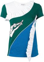 Dondup ruffled T-shirt - women - Cotton/Polyamide/Spandex/Elastane/Viscose - S
