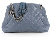 Chanel Pre-owned: Aged Chain Mademoiselle Bowling Bag Quilted Aged Calfskin Large.