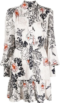 Pinko Floral Printed Shirt Dress